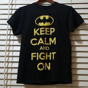 MEN'S BATMAN KEEP CALM FIGHT ON COTTON T SHIRT S